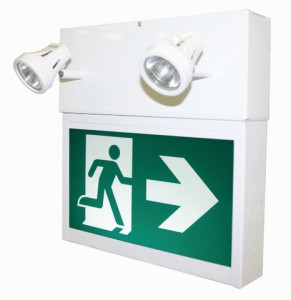 Running Man Exit Sign & Dual Remote Power Unit