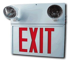 fire safety exit sign dual